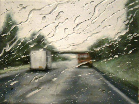 Du denkst, das sind Regentropfen auf der Windschutzscheibe. Zoome heraus und du wirst begeistert sein!