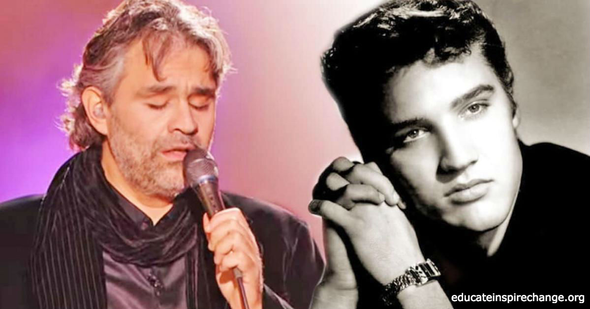 Es ist ein Lied von Elvis. Aber nur wenn er es singt, bringt er alle zu Tränen!
