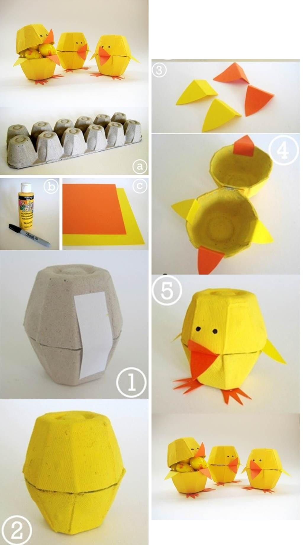 Voll gemütlich: Basteln mit Kindern! 8 einfache Bastelideen für Ostern!