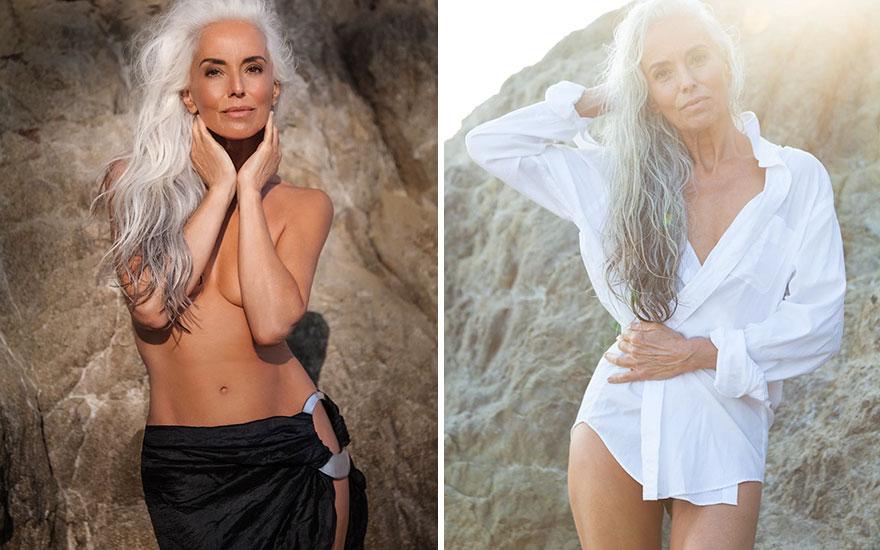 61-jähriges Model verblüfft die Welt und teilt ihre Geheimnisse zum anmutigen Altern