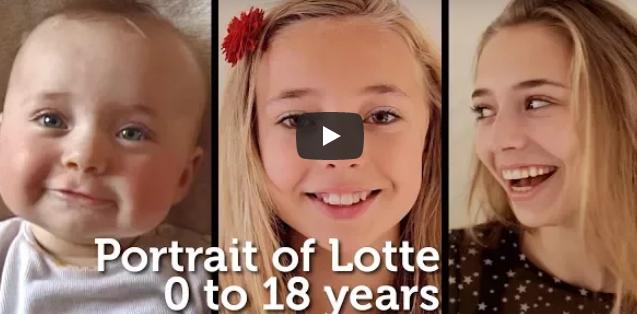 Er filmt seine Tochter jede Woche für 18 Jahre – schau dir das unglaubliche Resultat an, wie sie heranwächst