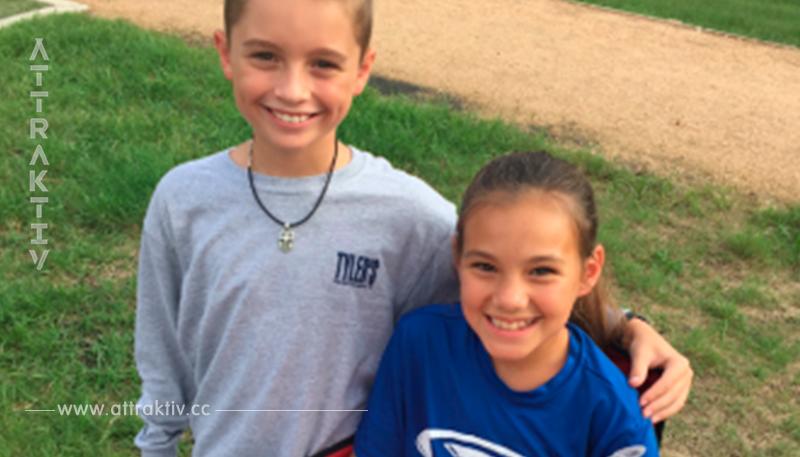 Diese beiden 10 jährigen Kinder sind seit einem Jahr ein Paar. Die Wahrheit hinter diesem Bild ist so süß!