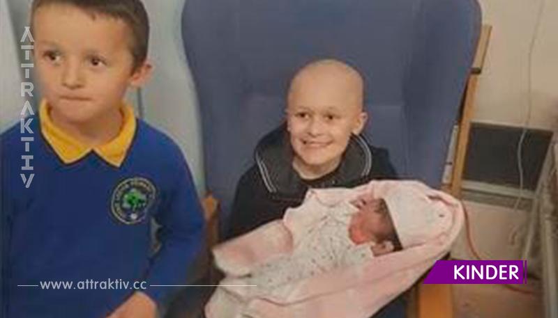 9-Jährige weigert sich, den Krebs gewinnen zu lassen, bevor die kleine Schwester geboren wird