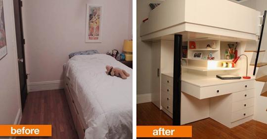 Clevere Einrichtungsideen für kleine Schlafzimmer.