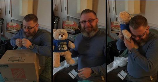 Vater erhält Paket mit Teddy   er spielt Herzschlag seines verstorbenen Sohnes ab