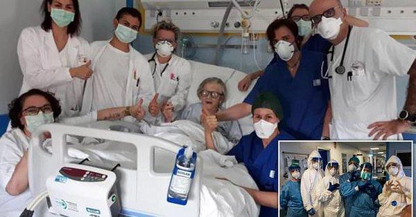 95 jährige Großmutter wird zur ältesten Patientin in Italien, die vom Coronavirus geheilt werden konnte