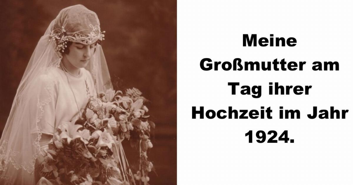 Omas Hochzeitsfotos, die die Vergangenheit aufleben lassen