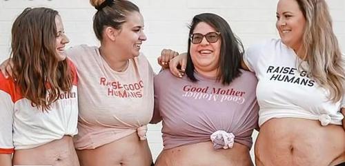 Stolze Mütter haben ihre Körper nach der Geburt in den sozialen Netzwerken gezeigt und sagen, dass sie häufig Ziele von Online-Fieslingen sind