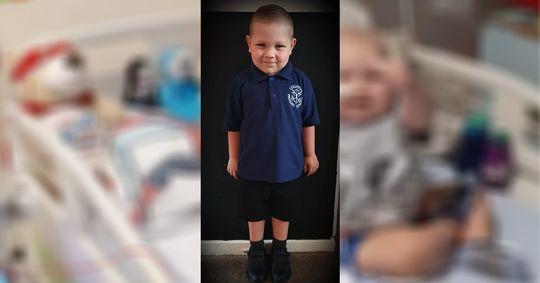 Tapferer Kämpfer Junge (4) besiegt zweimal Leukämie und feiert ersten Schultag