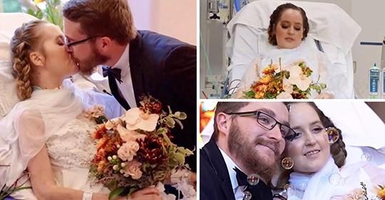 Ein Paar, das bereits seit dem Gymnasium zusammen ist, heiratet im Krankenhaus, nachdem bei der Braut Krebs im 4. Stadium diagnostiziert wurde