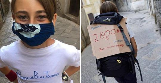 Keine Flüge wegen Corona: Junge wandert 2800 Kilometer zu seiner Oma
