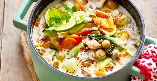 Hühnersuppe Tom Kha Gai