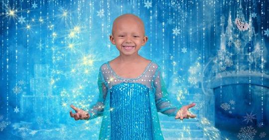 Eine Glatze ist wunderschön  Fünfjährige Krebspatientin bekommt bezauberndes Disney-Shooting