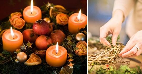 Adventskranz binden: Tolle Ideen zum Selbermachen