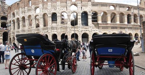 Rom verbannt Pferdekutschen von den Straßen   generelles Fahrverbot bei Hitze