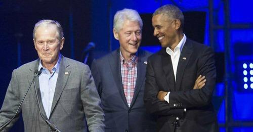 Die Ex-Präsidenten stärken Joe Biden den Rücken Clinton, Bush, Obama