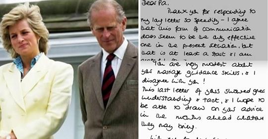 Diese herzlichen Briefe von Prinz Philipp an Prinzessin Diana zeigen, dass er bei der Scheidung auf ihrer Seite war