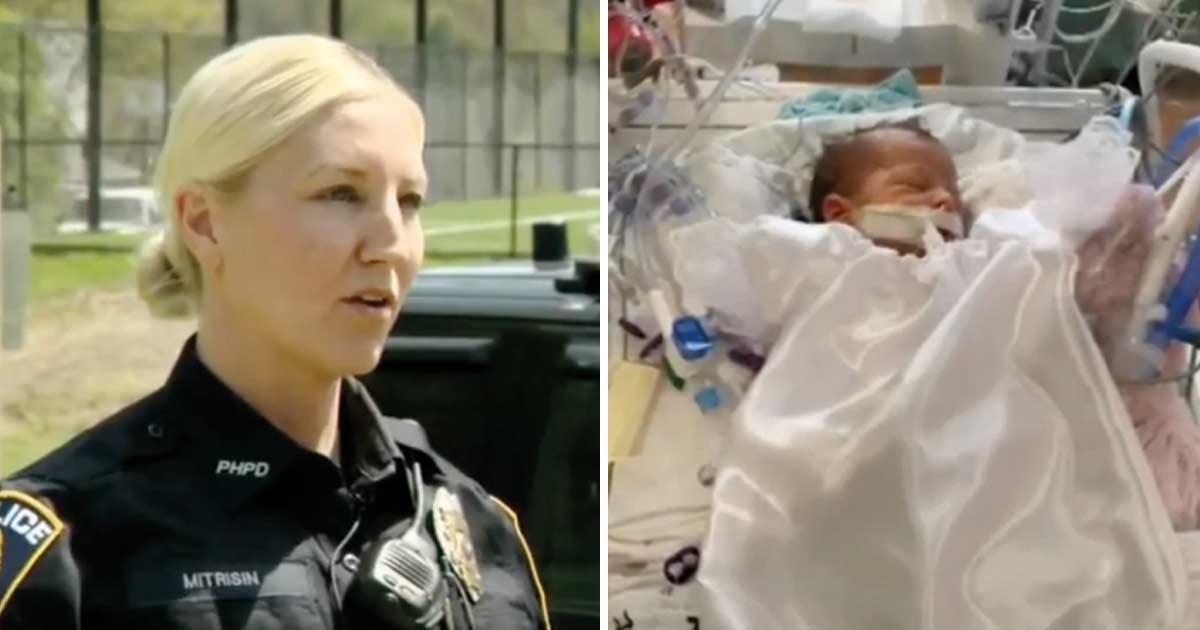 Mutige Polizistin rettet neun Tage altem Baby an Ampel das Leben – hatte aufgehört zu atmen