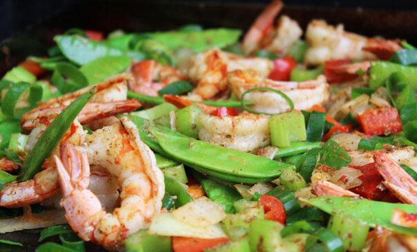 Rezept: Shrimps im bunten Cajun-Style
