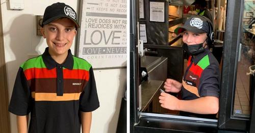 Stolzer Vater lobt das Engagement seines 14-jährigen Sohnes, den ganzen Tag in einem Fast-Food-Restaurant zu arbeiten: Es hagelt Kritik